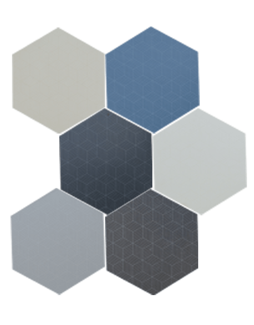 Carrelage hexagonal toscana cubic arti sols for Carrelage blanc hexagonal